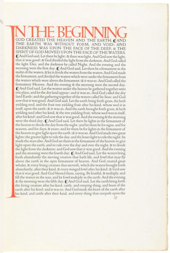 bilde av bibelside med fonten Doves